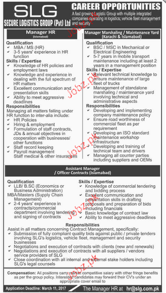 Manager HR and Manager Merchandising Job Opportunity