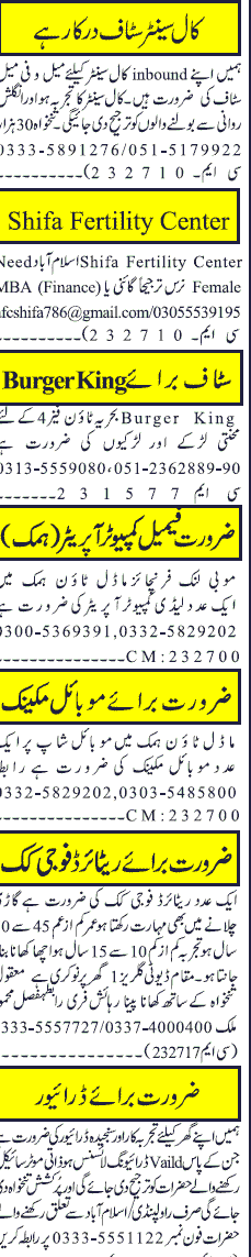 Call Center Staff and Computer Operators Job Opportunity