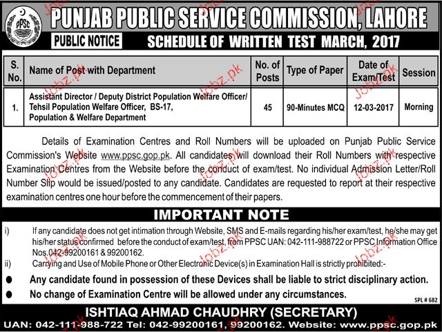 Assistant Directors Job in Government of the Punjab