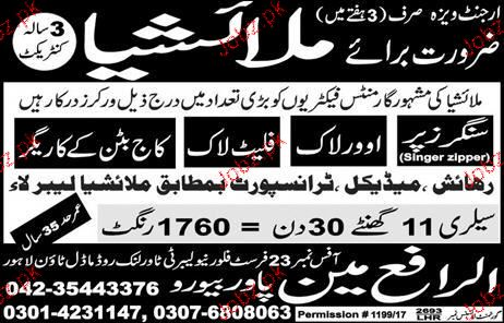 Industrial Staff Job Opportunity