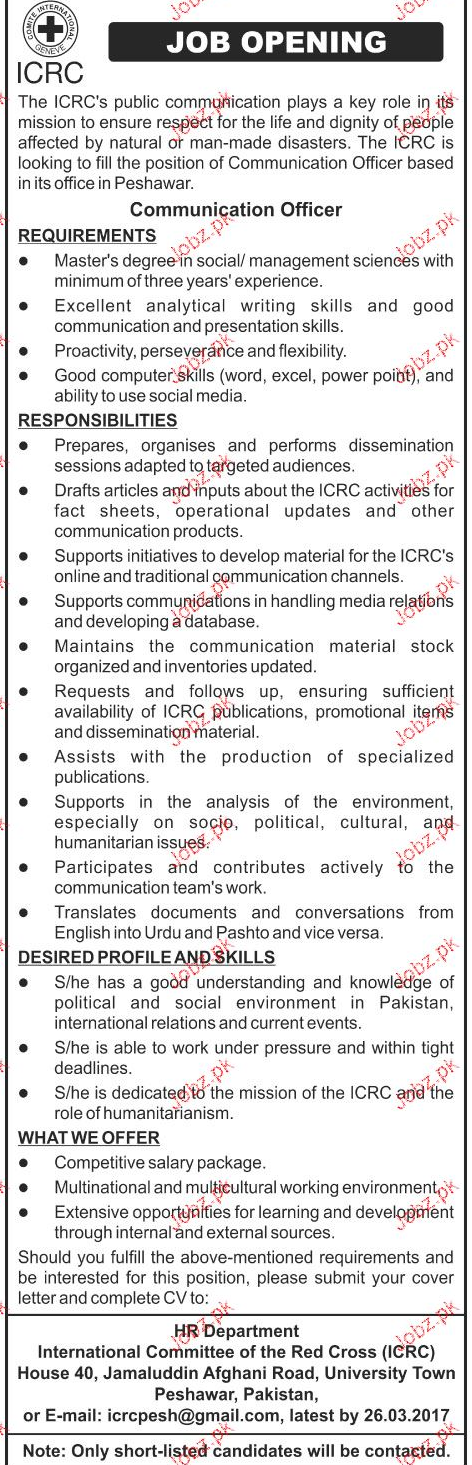 Communication Officers Job Opportunity