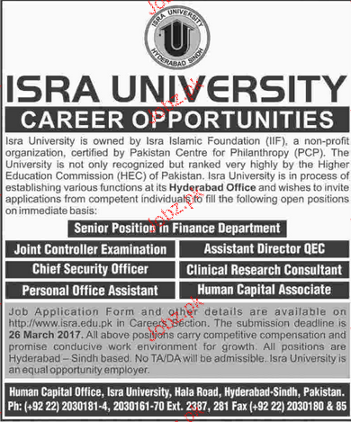 Joint Controller of Examination, Chief Survey Officer Wanted