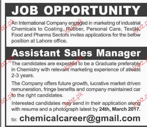Assistant Sales Manager Job Opportunity
