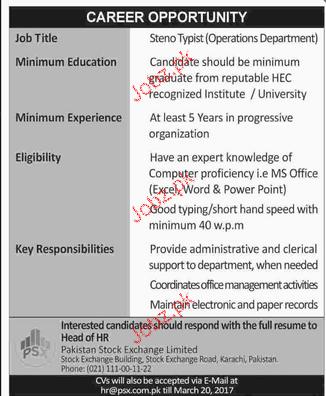 Stenotypists Job Opportunity
