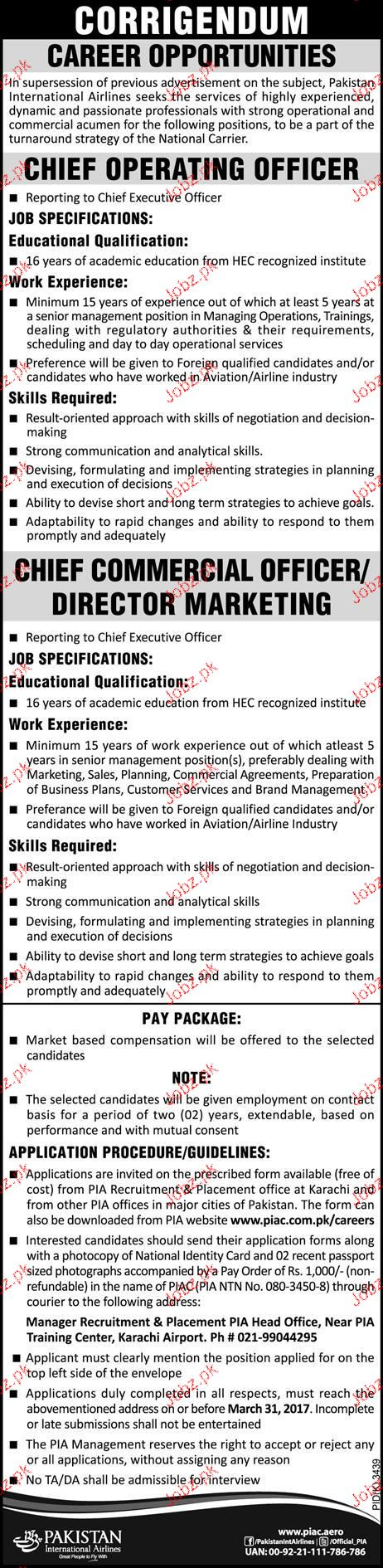 Chief Operating Officers Job Opportunity