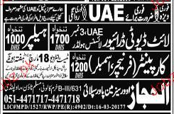 Light Duty Drivers, Carpenters and Helpers Job Opportunity