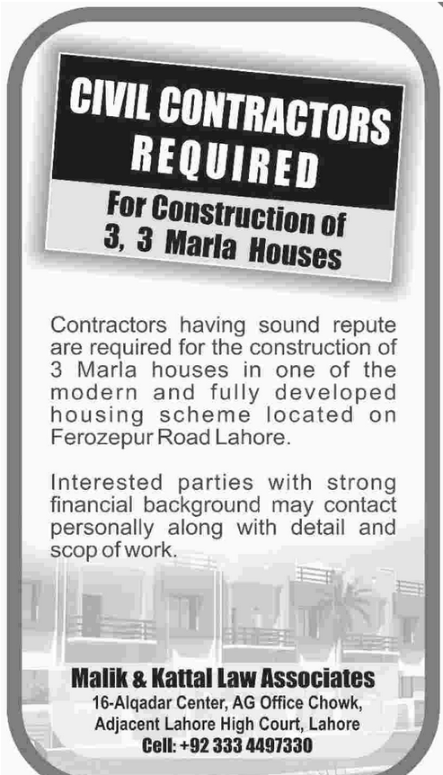 Civil Contractors Job Opportunity