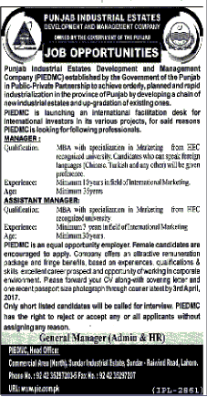 Manager Job Opportunity