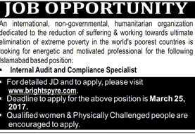 Internal Audit and COmpliance Specialists Job Opportunity