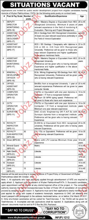 Various Staff required for KPK