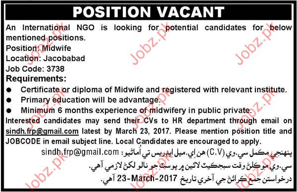 NGO required Midwife