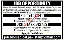 Credit Officers and Junior Accountant Job Opportunity