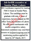 HR Coordinators Job Opportunity