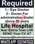 Eye Doctors and Doctors Job Opportunity