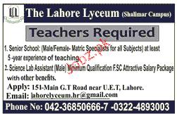 Teachers Job Opportunity