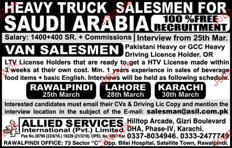 Van Salesmen Job Opportunity
