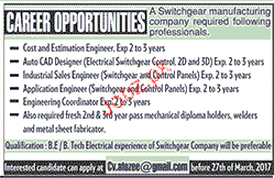 Cost Estimation Engineers, Autocad Operators Wanted