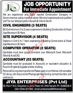 Site Supervisor, Civil Engineers Job Opportunity