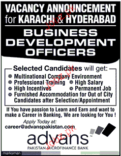 Business Development Officers Job Opportunity
