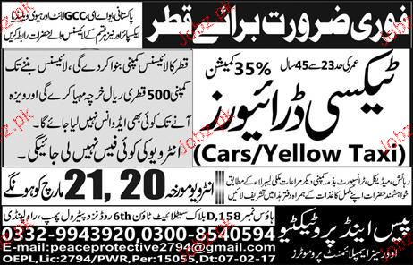 Taxi Drivers Job Opportunity