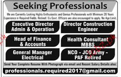 Construction Engineers, Executive Directors Job Opportunity