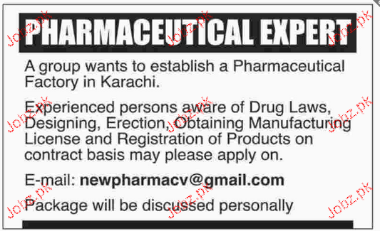 Pharmaceutical Experts Job Opportunity