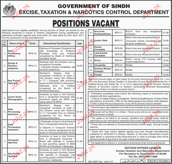 inspector excise job profile