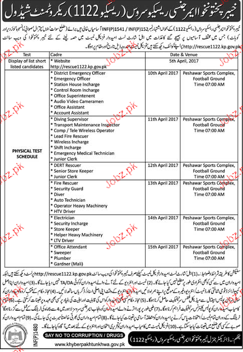 District Emergency Officers, Station House Incharge Wanted