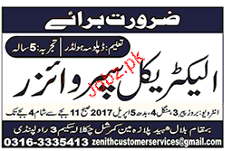 Electrical Supervisors Job Opportunity