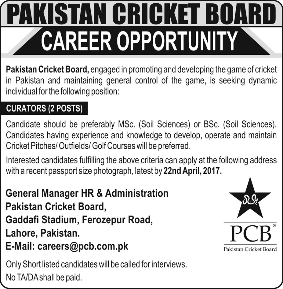 PCB Required Curators