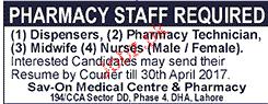 Dispensers, Pharmacy Technicians Job Opportunity