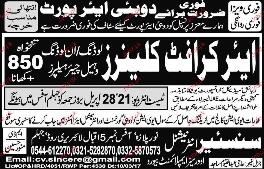 Aircraft Cleaners Job Opportunity