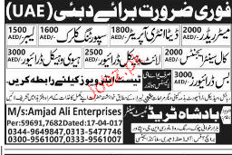 Meter Readers, Labors and Clerks Job Opportunity