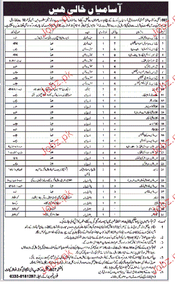 Technical Staff Job in Pakistan Army