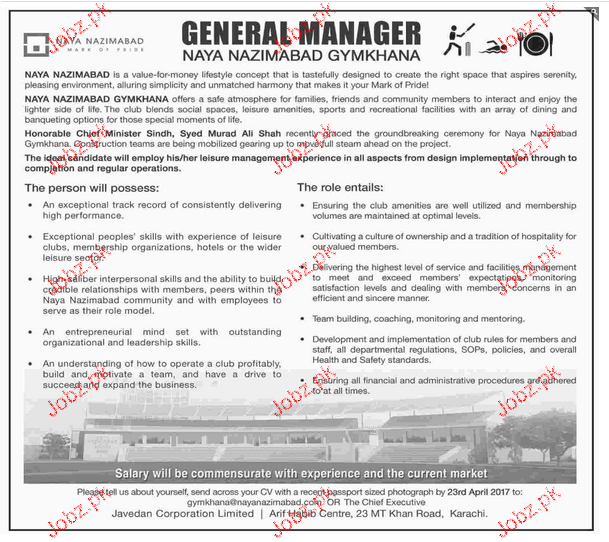 General Managers Job Opportunity