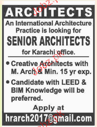 Senior Architects Job opportunity