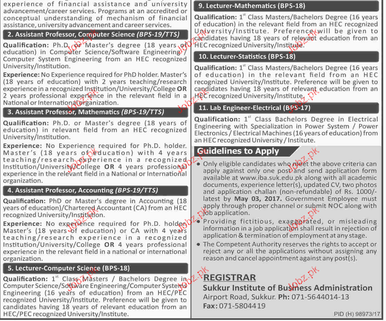 Directors, Professors and Lecturers Job Opportunity
