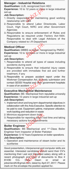 Divisional Managers, Manager Industrial Job Opportunity