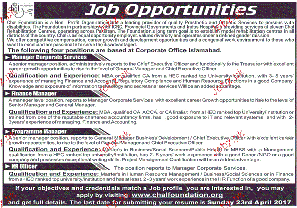 Manager Corporate Services, Finance Manager Wanted