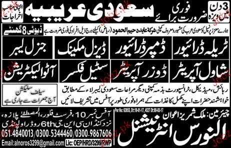 Shawal Operators, Auto Electricians, Dumper Drivers Wanted