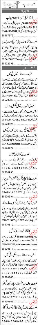 Sales Staff and Data Entry Operators Job Opportunity