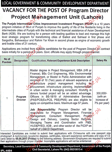 Program Director Job in Local Government & Community