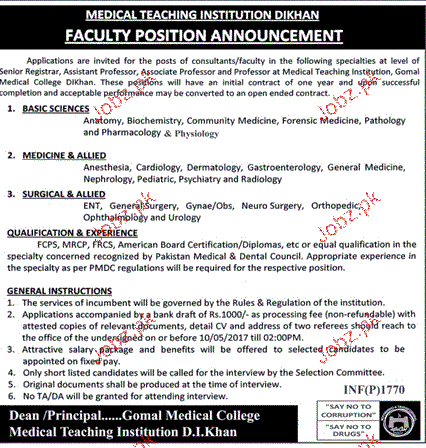 Assistant Professors, Associate Professors Job Opportunity