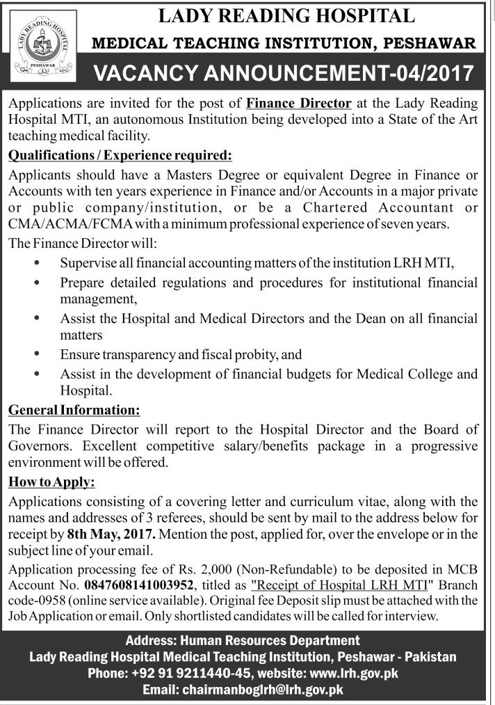 Finance Director required