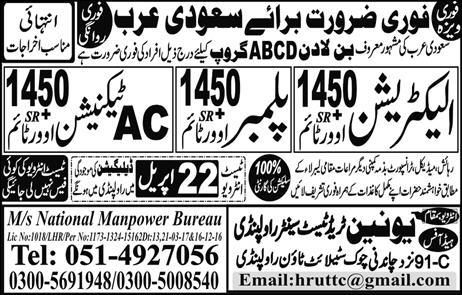 Electrician, Plumber, Technician Required