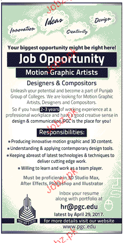 Motion Graphic Artists Job Opportunity