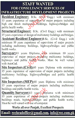 Resident Engineers, Structural Engineers Job Opportunity