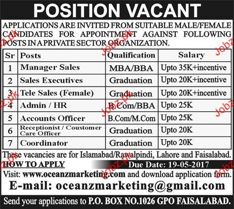 Assistant Manager Sales, Sales Executives Wanted