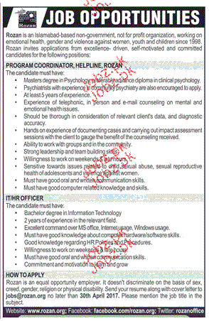 Program Coordinators Job Opportunity