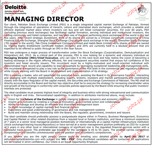 Manage Your Opportunities Be: Managing Director Job Opportunity 2019 Job Advertisement